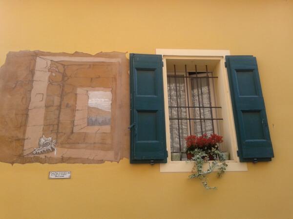 biennale del Muro dipinto Fenster