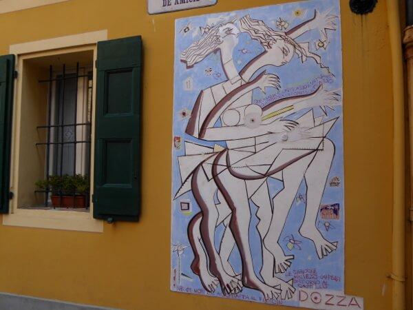 Dozza biennale del Muro dipinto abstrakt modern