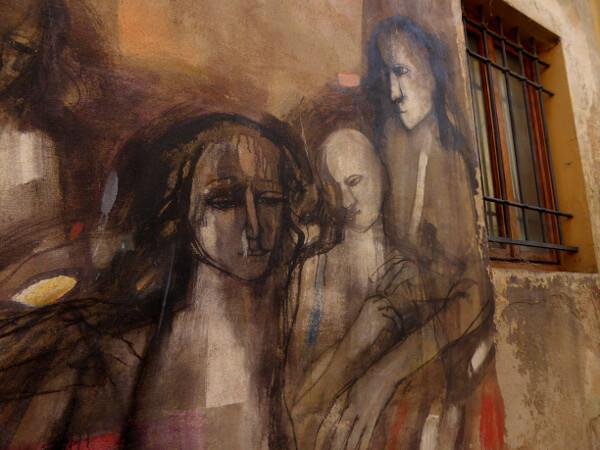 Dozza biennale del Muro dipinto familie