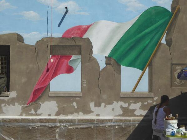 biennale del Muro dipinto restaurierung oder neu