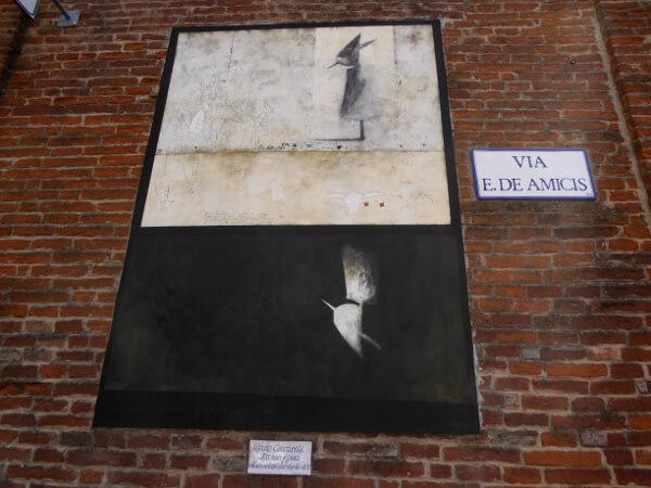 biennale del Muro dipinto via dei amici