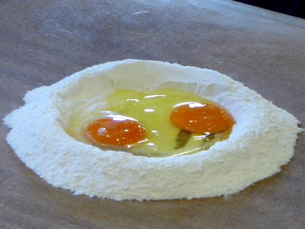 Pasta machen Zutaten Casa Artusi Forlimpopoli