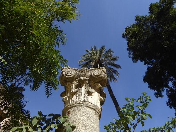 Real Alcazar Gärten Säule