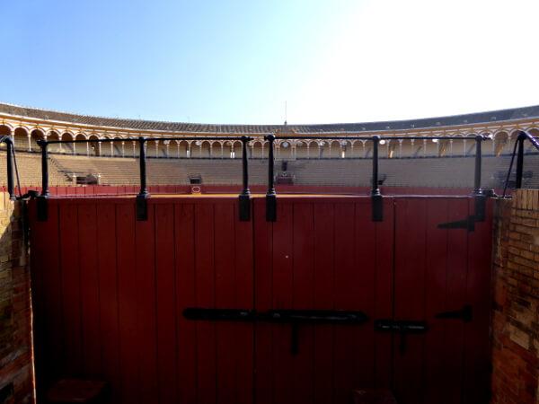 Sevilla Stierkampf Arena Eingang