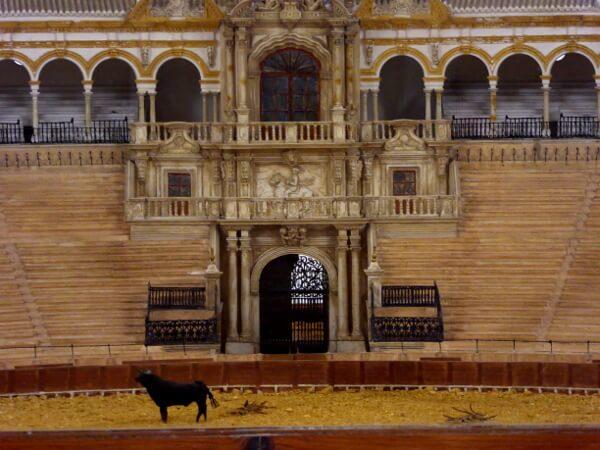 Sevilla Stierkampf Arena Modell Museum