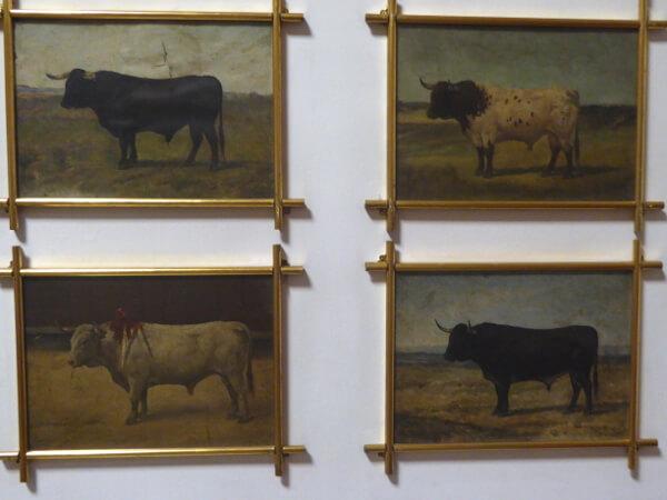 Sevilla Stierkampf Arena Stiere Gemälde