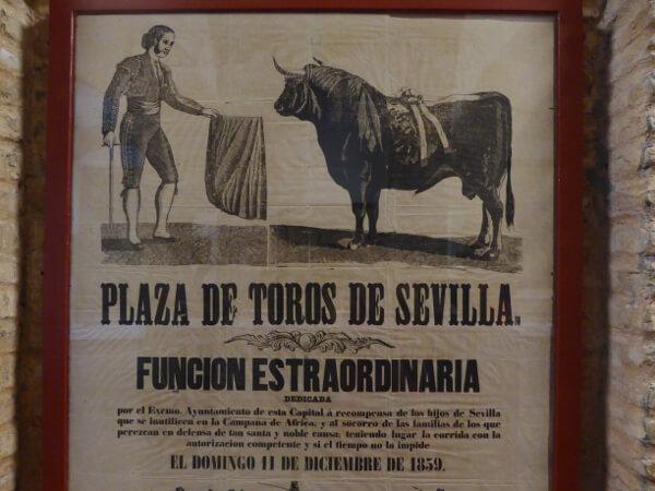 Sevilla Stierkampf Arena plakat