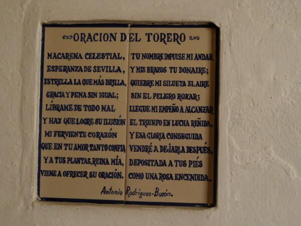 Sevilla oracion del torero