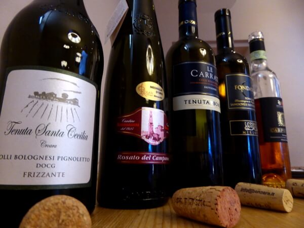 Weinprobe Enoteca Dozza