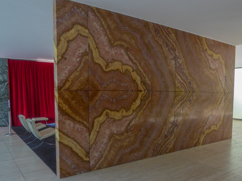 barcelona pavillon mies van der rohe material marmor