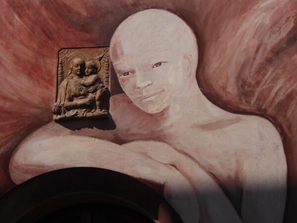 der kahle Engel Dozza biennale del Muro dipinto