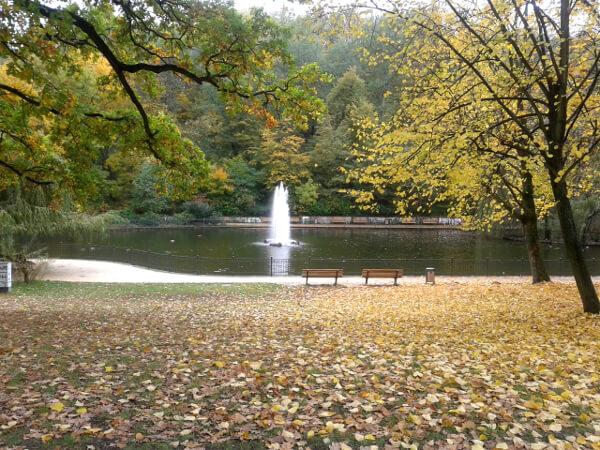 Berlin Friedrichshain Park Herbst