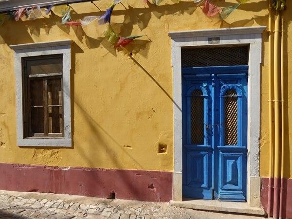 Loulé traditionelle Fenster Türen Altstadt