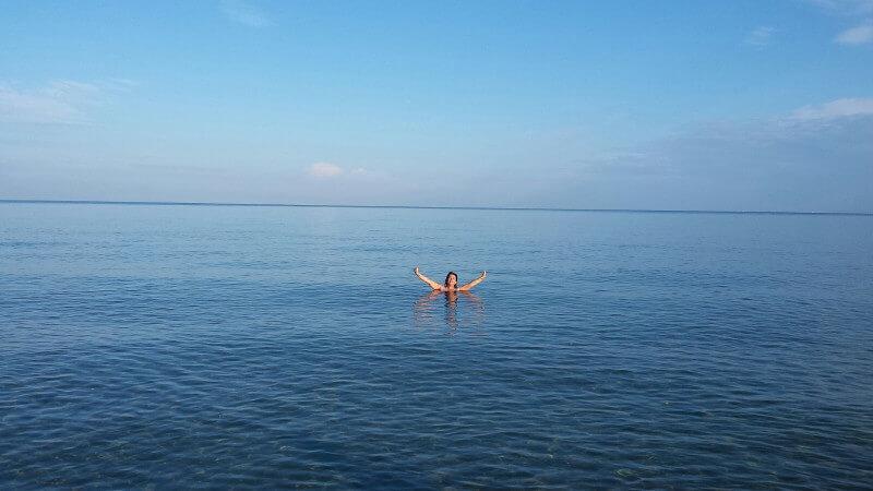 Sizilien Bad im Meer