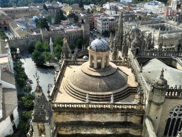 catedral de Sevilla blick aus giralda turm