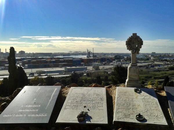 Ausblick Hafen Friedhof Montjuic Barcelona