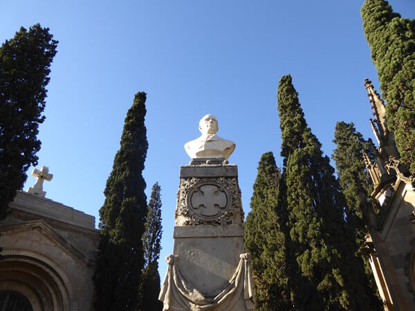 Finanzbeamter Friedhof Montjuïc Barcelona