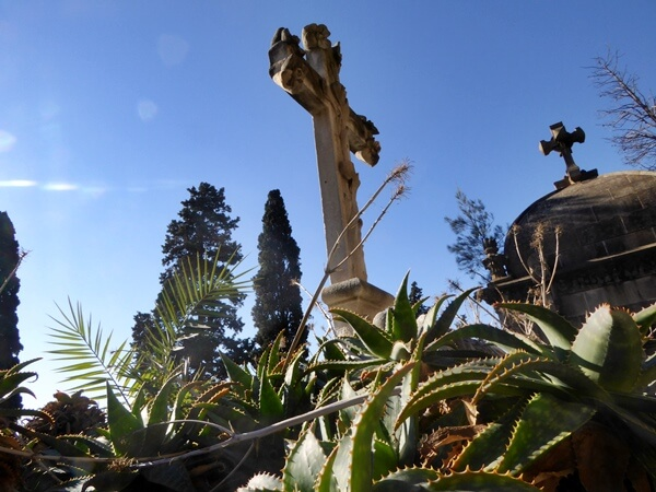 Friedhof Montjuïc Barcelona Kreuz