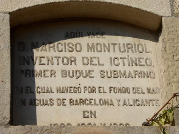 Friedhof poblenou Barcelona Narcis Monturiol