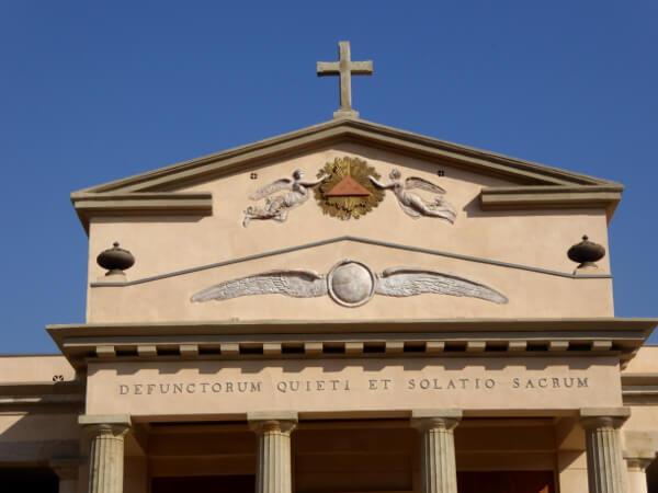 Friedhof poblenou Barcelona kapelle Symbole