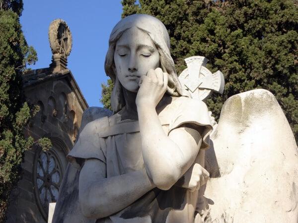 Pantheon Alomar i Estrany Bildhauer Josep Llimona Engel Friedhof Montjuic Barcelona