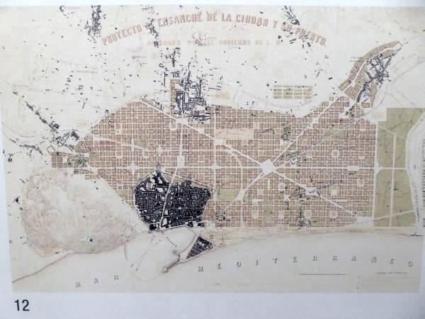 Plan Erweiterung Barcelona im cemenitri montjuïc barcelona