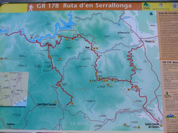 Sant Hilari Sacalm Wanderwege Serrallonga