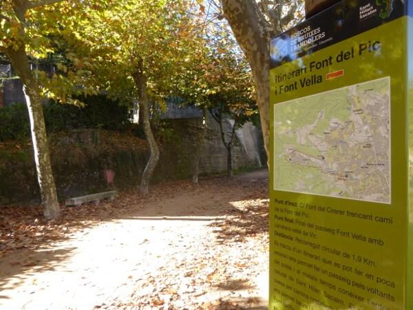 Sant Hilari Sacalm Wasser Wanderwege