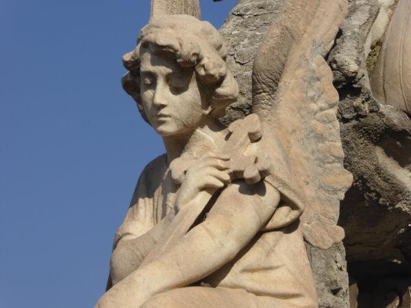 engel Friedhof poblenou Barcelona