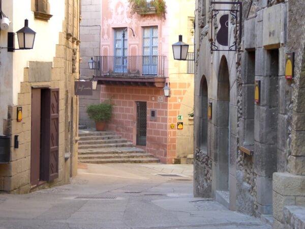 poble espanyol Montjuic barcelona Strasse