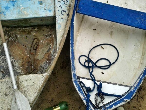 Búzios Boote am Ufer Brasilien