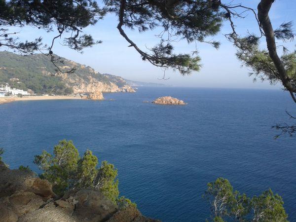 Tossa de Mar blick auf Mittelmeer
