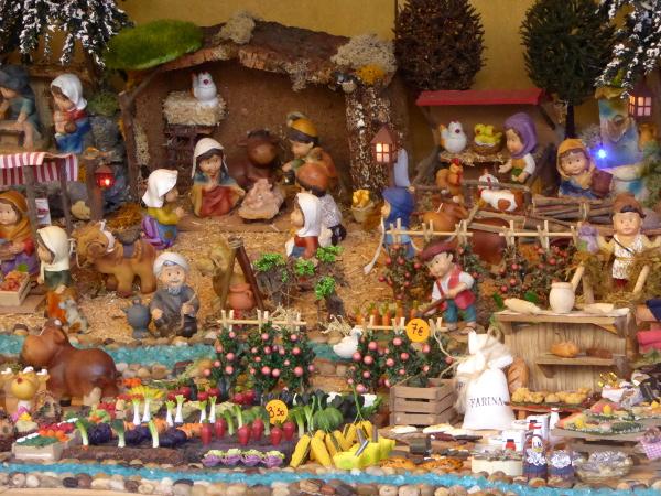 weihnachten Barcelona Krippe