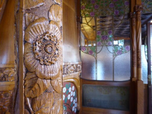 CAsa Lleo Morera Barcelona Material Holz Modernisme