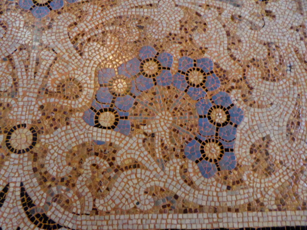 Casa Lleo Morera Barcelona roemisches Mosaik Fussboden