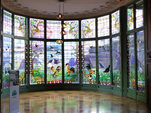 Casa Lleo Morera Modernisme Glasfenster Barcelona