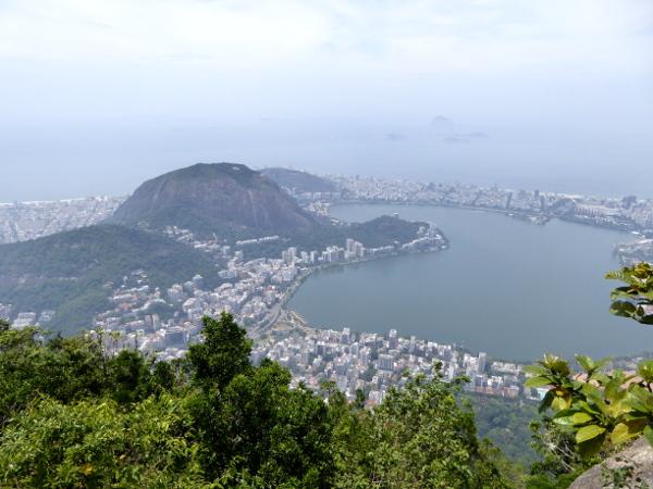 Cristo Redentor Aussicht Rio de Janeiro Lagoa