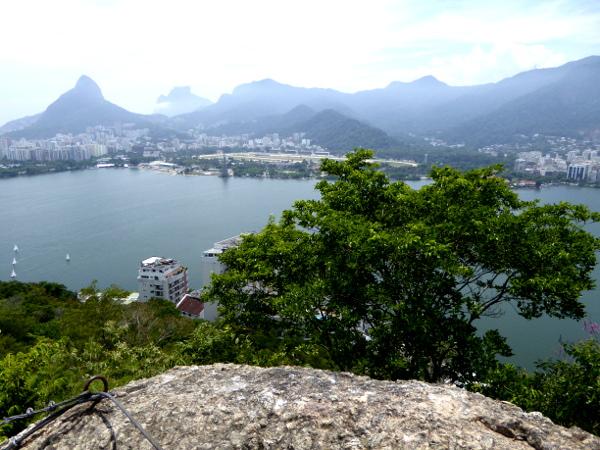 Lagoa de Freitas blick vom Parque da Catacumba