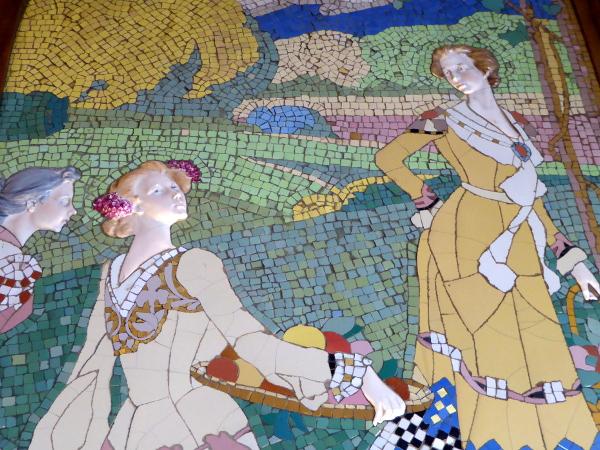 Mosaik esszimmer Casa Lleo Morera Modernisme
