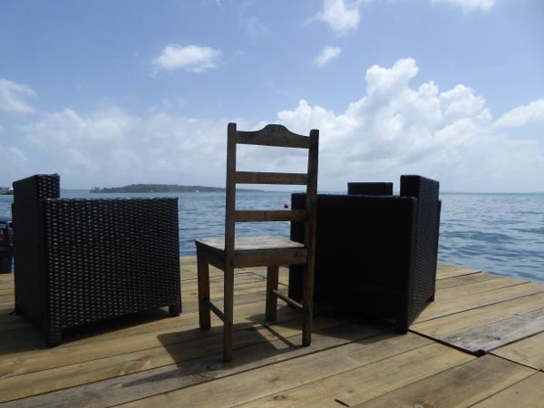 Nach dem Tauchen auf Bastimentos Sonne in Bocas