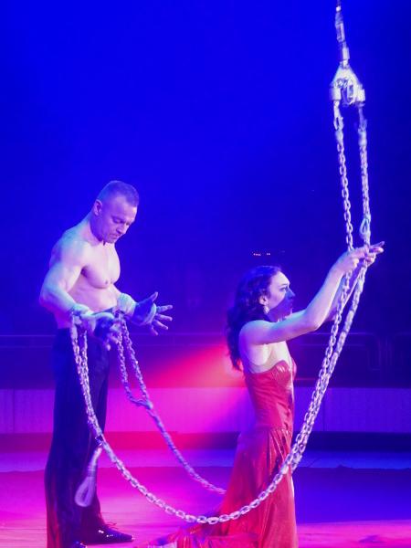 Zirkus Festival Figueres Luft Seil