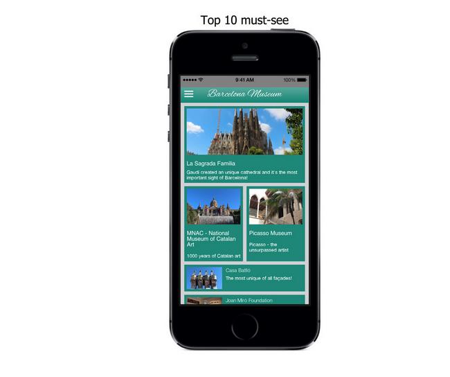 Barcelona Museum app screenshot