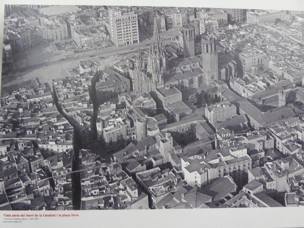 Das Viertel der Kathedrale Barcelona alt Luftaufnahme