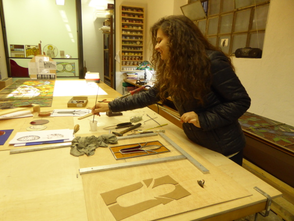 Lina Bleiglasfenster Werkstatt