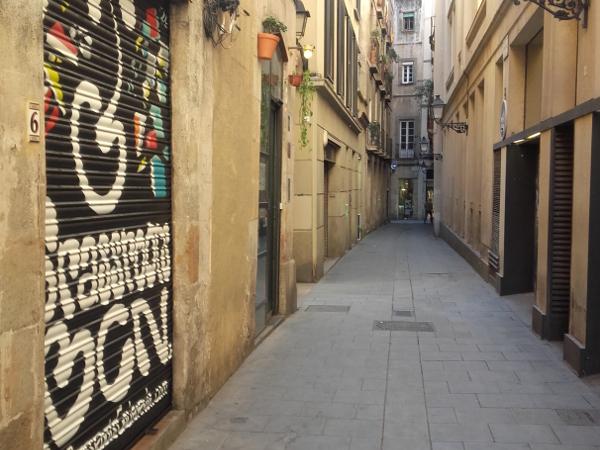 Strassen in der Altstadt Barcelona