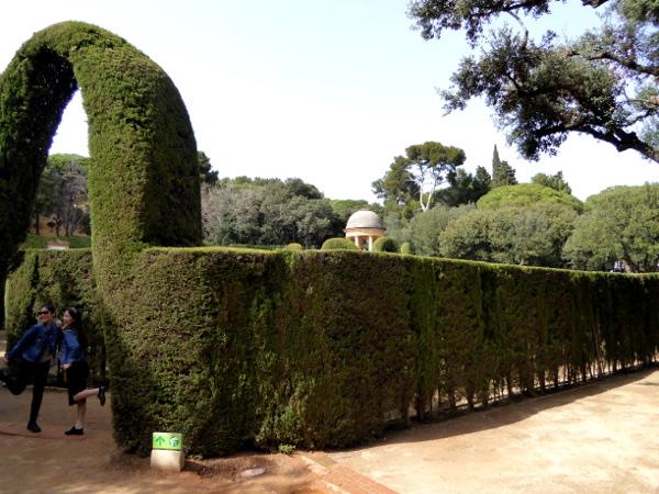 Labyrinth von Horta Barcelona eingang