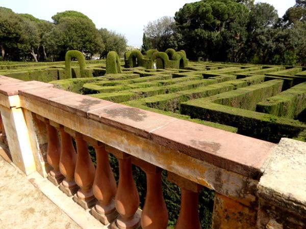 Labyrinth von Horta barcelona von oben