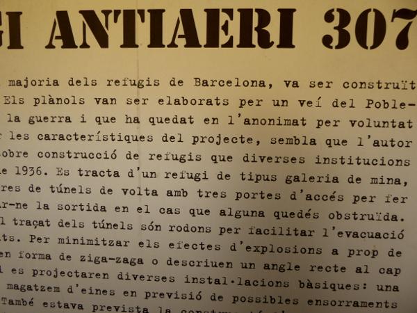 barcelona refugi 307 luftschutzbunker.dokumentation eingang museum