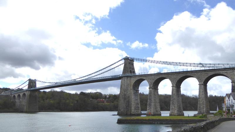 Anglesey Menai Bridge Wales.thomas telford