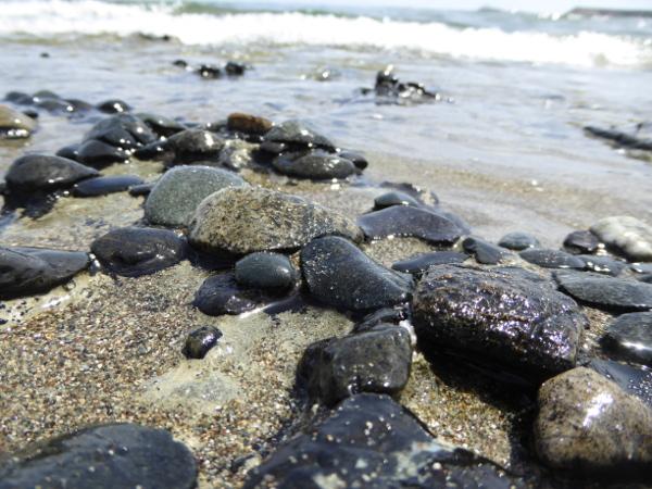 Strand steine Meer Zypern hotel Lemesos limassol